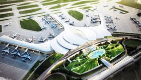 A model of Long Thanh International Airport.