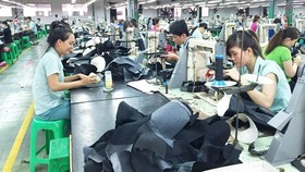 Workers at a footwear company in HCMC (Photo: SGGP)