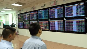 Investors at Vietcombank Securities Company. The Vietnamese stock markets experienced another strong selloff on Tuesday, which wiped out $5.8 billion in market capitalisation. (Photo: VNA/VNS)
