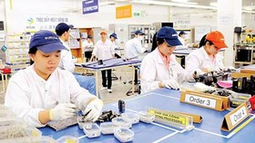 Workers at a Japanese firm in Linh Trung export processing zone, HCMC (Photo: SGGP)