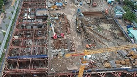 A under construction project in HCMC (Photo: SGGP)