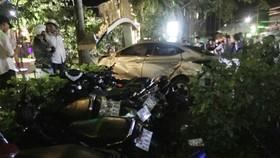 Hiện trường vụ tai nạn khiến 2 nữ sinh tử vong