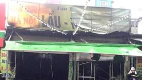 Cháy quán bia hơi giữa trời mưa, một phụ nữ thiệt mạng