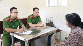 Bà Mai Thùy Linh khai báo tại cơ quan công an