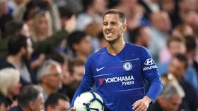Eden Hazard vẫn chưa một lần để cập đến khả năng ký hợp đồng mới. Ảnh: Getty Images