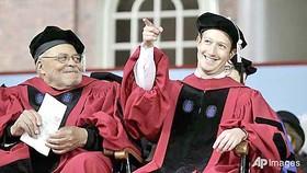 Ông chủ Facebook nhận bằng tiến sĩ danh dự ĐH Havard