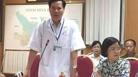 Ông Trương Quý Dương, Giám đốc Bệnh viện đa khoa tỉnh Hòa Bình đã bị đình chỉ công tác