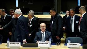 Thủ tướng Palestine Rami Hamdallah tại cuộc họp Nhóm hỗ trợ quốc tế tại Brussels. Ảnh: REUTERS