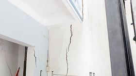Nhiều căn nhà bị hư hại trầm trọng do việc thi công Wilton Tower