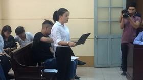 Vụ kiện của diễn viên Ngọc Trinh  trong một phiên xét xử trước đó