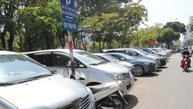 Một điểm đậu xe có thu phí trên địa bàn TPHCM