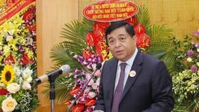 Tân Chủ tịch Hội Hữu nghị Việt Nam - Đức, ông Nguyễn Chí Dũng phát biểu. Ảnh: TTXVN