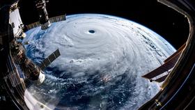 Trami nhìn từ Trạm Không gian quốc tế (ISS) hôm 25-9. Ảnh: ESA
