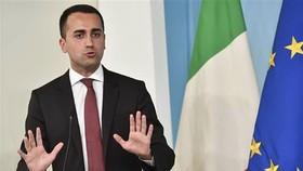 Phó Thủ tướng Italy Luigi Di Maio tại cuộc họp báo ở Rome. Nguồn: TTXVN
