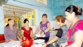Bếp ăn khuyến học của Hội Cựu giáo chức TP Sa Đéc do các cô giáo về hưu đảm nhiệm