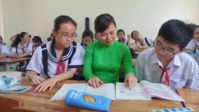 Một tiết lên lớp của cô và trò Trường THCS Lê Văn Tám (quận Bình Thạnh, TPHCM)