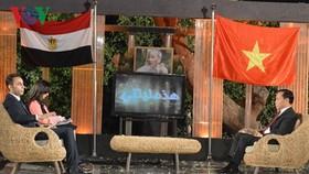 Phó Trưởng ban Thường trực Ban Đối ngoại TW Trần Đắc Lợi ca ngợi mối quan hệ truyền thống giữa Ai Cập và Việt Nam. Ảnh: VOV