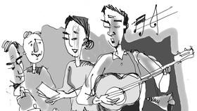 Chuyện vợ chồng mù bán vé số… nhạc