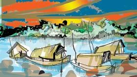 Dòng sông mùa thu