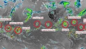 Siêu bão Florence là một trong chuỗi 9 cơn bão đang hoạt động trên thế giới