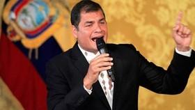 Cựu Tổng thống Ecuador Rafael Correa. Ảnh: Reuters