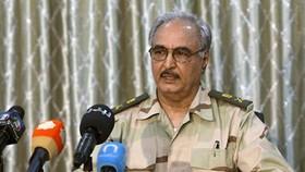 Tướng Khalifa Hafter  Ảnh ASHARQ AL-AWSAT