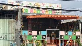 Nhóm mẫu giáo Ánh Sao Vàng (xã Đa Phước, huyện Bình Chánh), nơi xảy ra sự việc bảo mẫu tát bé gái 5 tuổi