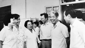 Chủ tịch Hội đồng Bộ trưởng Đỗ Mười thăm TPHCM năm 1989