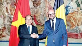 Thủ tướng Bỉ Charles Michel và Thủ tướng Nguyễn Xuân Phúc
