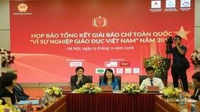"""Công bố kết quả giải Báo chí """"Vì sự nghiệp giáo dục Việt Nam"""""""