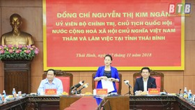 Chủ tịch Quốc hội Nguyễn Thị Kim Ngân thăm và làm việc tại Thái Bình