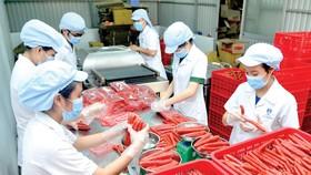 Lạp xưởng  - mặt hàng được sản xuất nhiều, cung ứng thị trường tết       Ảnh: THÀNH TRÍ