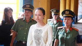 Bị cáo Phương Nga trong một phiên xét xử