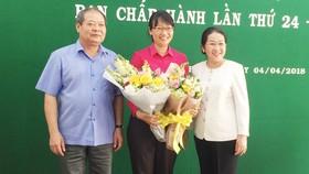 Bà Trần Thị Diệu Thúy được bầu làm Chủ tịch LĐLĐ TPHCM