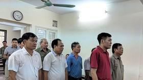 Các bị cáo trong vụ án vi phạm đất đai tại Đồng Tâm