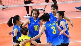 Đội tuyển bóng chuyền nữ Việt Nam tại Asiad 2018. Ảnh: NHẬT ANH