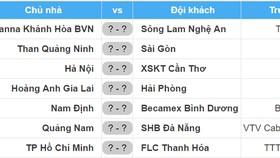 Lịch thi đấu vòng 25 Nuti Cafe V.League 2018: Hà Nội tiếp XSKT Cần Thơ, Nam Định gặp Bình Dương