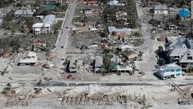 Mexico Beach là một trong những khu vực bị ảnh hưởng nặng nề nhất bởi siêu bão Michael. Ảnh: Getty