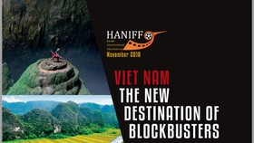 large-sized billboard promoting Vietnamese natural landscapes