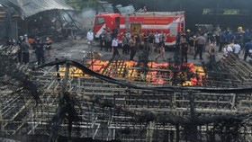 A scene of the fire (Source: AFP)