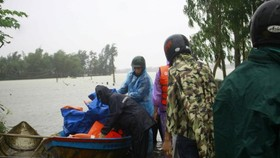 Emergency food aid supplied flood hit households