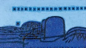 "This image provided by Seoul Auction shows Kim Whan-ki's ""Morning Star."" (Yonhap)"