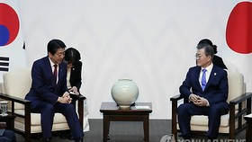 Moon urges Japan to look 'squarely' at history for improved ties with S. Korea