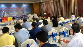 At the press meeting -Photo: SGGP