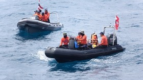 Search and rescue forces off the island (Source: VNA)