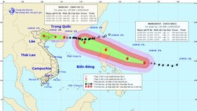 Super typhoon Mangkhut close to East Sea  