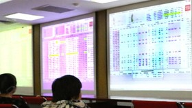 Investors follow transactions at Saigon Securities Inc (SSI) in Hà Nội. — VNS Photo Đoàn Tùng