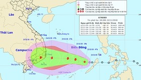 Tropical low-pressure developing into typhoon hits South Vietnam