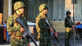Thai soldiers in Bangkok. (Photo: Xinhua/VNA)