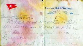 Thư của nạn nhân tàu Titanic được bán với giá kỷ lục